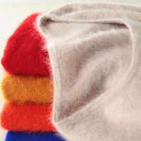 Super Warm Fluffy Mink Cashmere Soft Skin O Neck Sweaters & Sweaters for Women Autumn Winter Jumper Women Brand Jumper