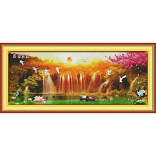 Everlasting love Wishing you prosperity  Chinese cross stitch kits Ecological cotton stamped printed 11CT Christmas decorations