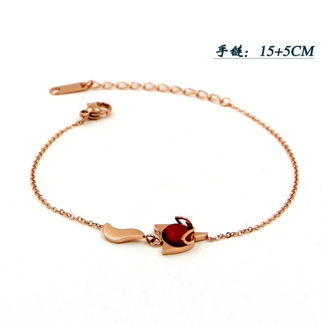 Модные украшения Браслет red firefox розовое золото Индивидуальные