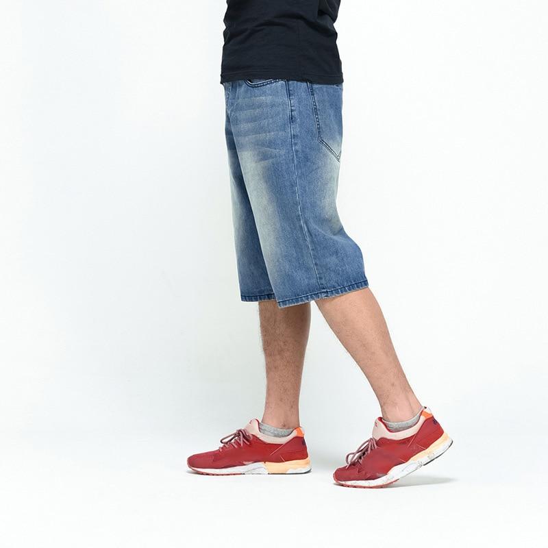 Large Shorts Jambe Pierre Jeans Baggy Lavage Planche Hiphop Coton Denim À Loose Streetwear 2018 Hommes Fit Bleu Roulettes AqgtvwInz