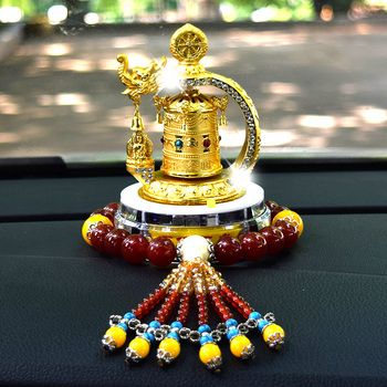 HOME OFFICE SHOP CAR Effective Bless Safe and good luck Talisman Protection- Solar energy Buddhist Scriptures prayer wheel
