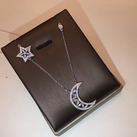New Sailor Moon 925 Sterling Silver Jewelry For Women High Quality Big Style Star Moon Chain