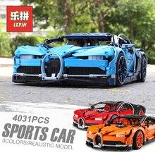Lepin 20086B техника красный Bugattied Супер гоночный автомобиль набор строительных Конструкторы Кирпичи совместимы Legoing 42083 игрушечные лошадки для детский подарок