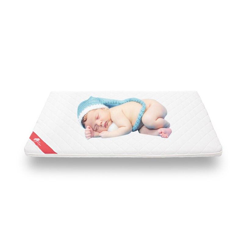 Matelas bébé 2019 matelas respirant sans formaldéhyde silencieux bébé dormir naturel noix de coco Latex matelas pour berceau bébé