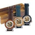 Модные механические часы BOBO BIRD для мужчин  автоматические водонепроницаемые деловые часы в подарочной коробке  цвета на выбор