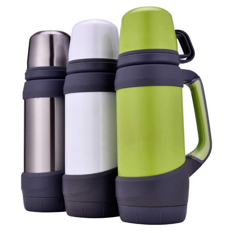 Keelorn 800 мл 880 мл 1000 мл Высокая емкость с двойными стенками 304 нержавеющая сталь термосы портативные термальные дорожные кофейные бутылки