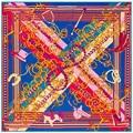 Nueva 130 cm * 130 cm Bandana Moda Cadena de Oro Patrón de Lujo de la Marca Mujeres Bufanda de Seda Bufanda Pañuelo de Satén Cinta SH1510223
