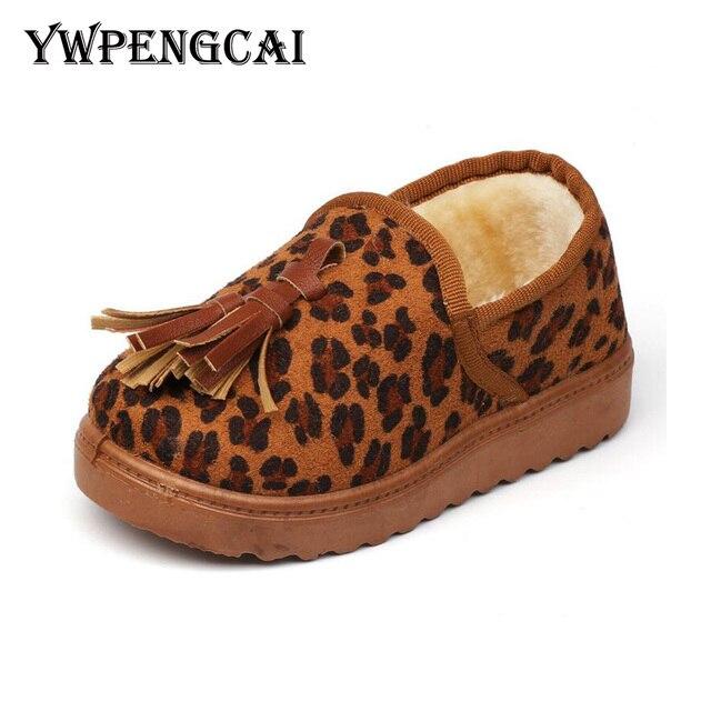 e665055dbcd Talla 26-35 Otoño Invierno niños zapatos mocasines niños zapatos casuales  de piel corta cálido