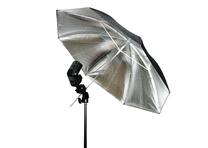 "FOTGA 33 ""83 cm Photo Studio Flash Light Reflector Reflective Black Sliver Umbrella"