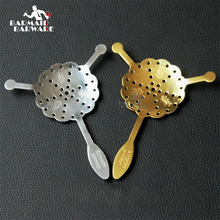 New 304 Stainless Steel Absinthe Spoon Cocktail Bar Utensils Bitter Scoop Glass Cup Drink Ware Spoons Filter