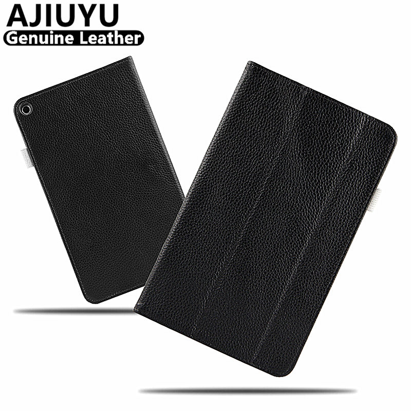 Genuine Leather For Huawei MediaPad T3 8 Case Cover T3 8.0 Protective Protector KOB L09 KOB W09 Honor Play Pad2 Tablet Cowhide