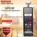 Sanwa SE9100 Tachometer/Speedmeter; Geschwindigkeit Meter  Für aufzug wartung  2ch display  daten lagerung/locking  auto abschaltung-in Geschwindigkeit-Messgeräte aus Werkzeug bei