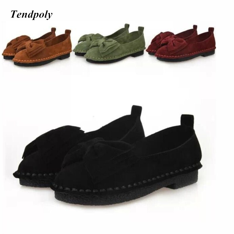 2018 autumn winter explosions Korean bow flat shoes a pedal lazy shoes low to help seamstresses shallow mouth Peas Women's shoes inventory accounting