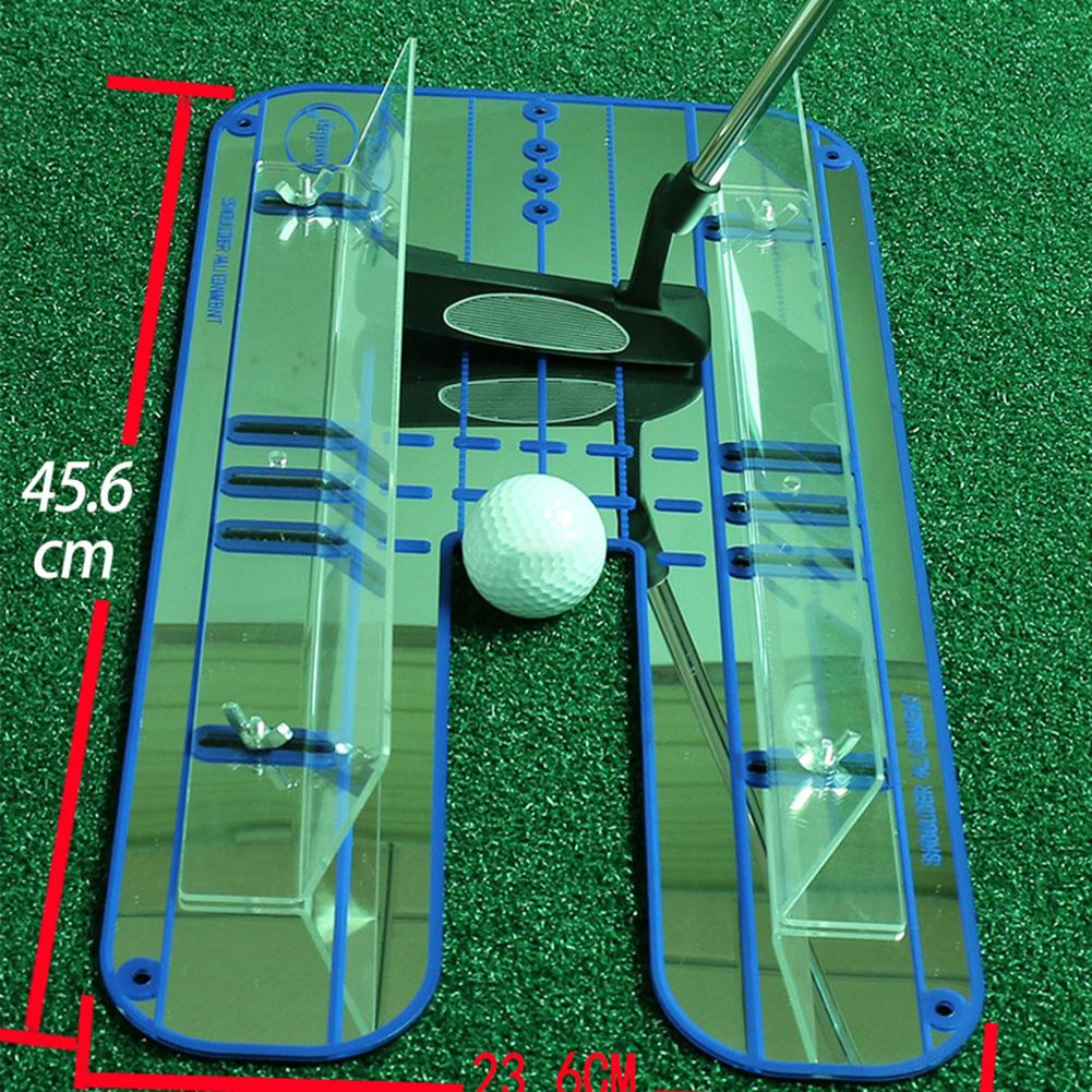 プレミアムアライメント置くミラー オールインワンゴルフトレーニングあなたセットアップ位置改善への援助、パター顔補正 -