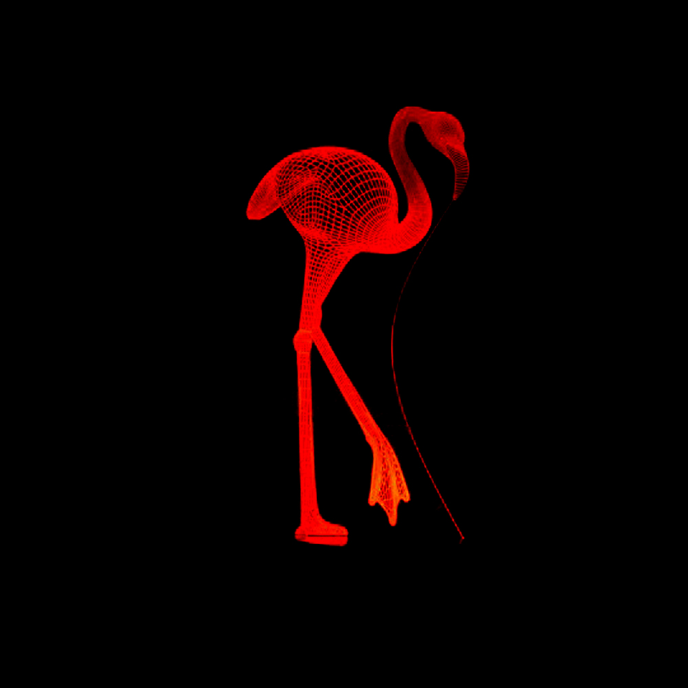 HOT SALE Multicolor Flamingos Decorative Animal 3D Lamp Night Light RGB LED Lighting Christmas Xmas Gifts Kids Toys Lava Lampe big game console horizontal wall mount with multicolor led light for ps4 hot sale