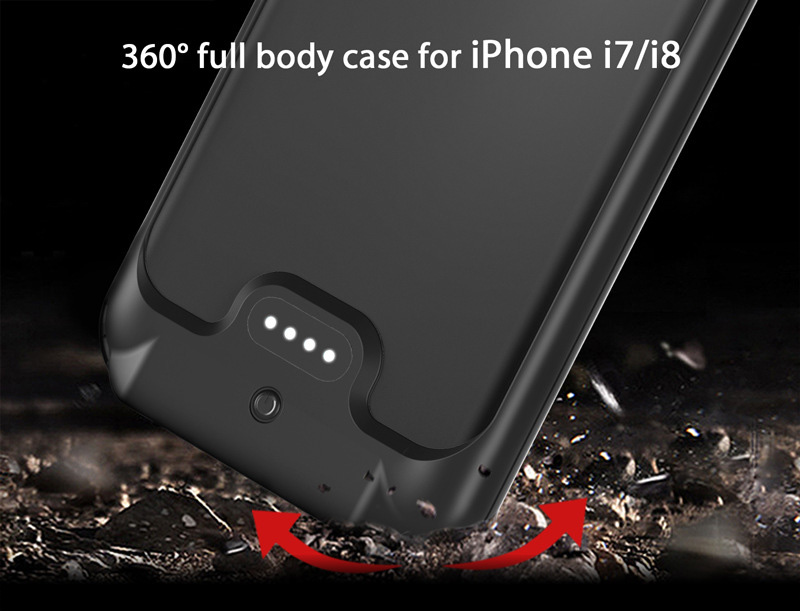 New Full 3200mAh Power bank case pack backup battery Charge case cover for iPhone 7 8 4.7 inch Pakistan