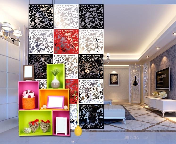Elegant & Versatile Hanging Room Divider (12 Panel - Red)