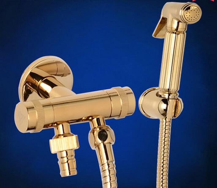 brass bidet spray set bidet toilet seat sprayer set spray. Black Bedroom Furniture Sets. Home Design Ideas