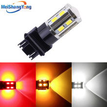 Led car bulb 7443 7440 3157 3156 1156 1157 BA15S BAU15S BAY15D Xenon Red W21/ 5W High power Cree Chips lamp light source parking