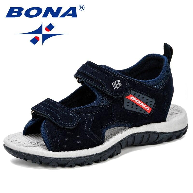 BONA 2019 Summer Kids Shoes Brand Open Toe Boys Sport Beach Sandals Orthopedic Arch Support Children Boys Sandals Shoes Comfy