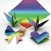 Kleurverloop Bloemen Sterrenhemel Regenboog Patroon Hart Rose Origami Papier DIY Kinderen Vierkante Ambachtelijke Papier