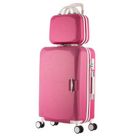 2019 Hot ABS+PC Children's and women's favorite trolley suitcase sets/8 Colors universal wheels men's trolley luggage mala