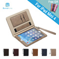 Luxury Leather Case for iPad mini 4 Retro Briefcase Auto Wake Up Sleep Hand Belt Holder Stand Flip Bags Cover for iPad mini4