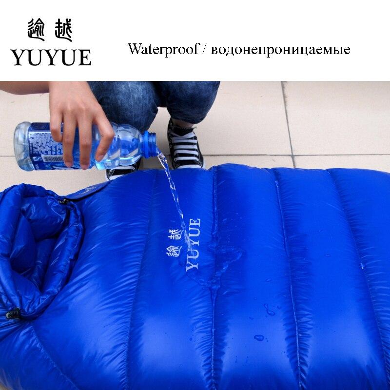 Adult waterproof Lengthened Sleeping Bag Ultralight Tearproof Mummy Camping Sleeping Bag Down For Hiking Equipment Sleep Bags 2