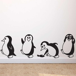 Cute little penguin Wall Sticker Home Decor Children's room living room Background decoration Mural art Decals animal stickers