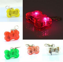 Pet Dog LED Glowing Kerah Pet Dog ID Tag Anjing Liontin Flashing Led Kerah Bercahaya Aksesoris A33(China)