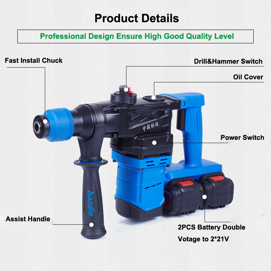 HTB10VCtabwTMeJjSszfq6xbtFXam - 5000 10000mAh Heavy Wall Hammer Cordless Drill Rechargeable Lithium Battery Multifunctional Electric Hammer Impact Drill