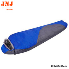 TOP quality portable mini hiking camping single sleeping bag 220*80cm made by hollow cotton