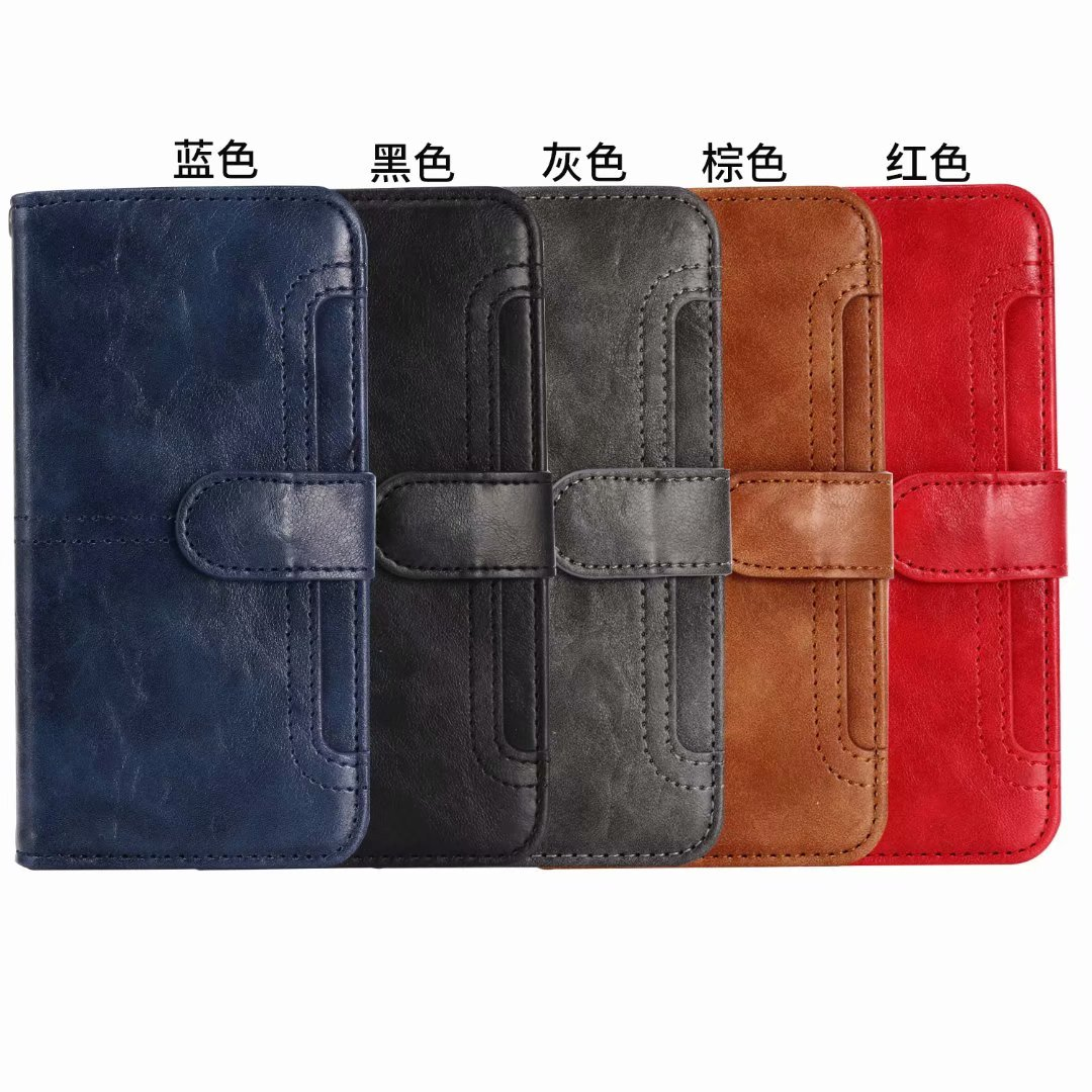 Ritzy Luxury Case For iPhone 6 7 8 plus X Antique Oil skin Stand Flip Leather Wallet Cell phone Case