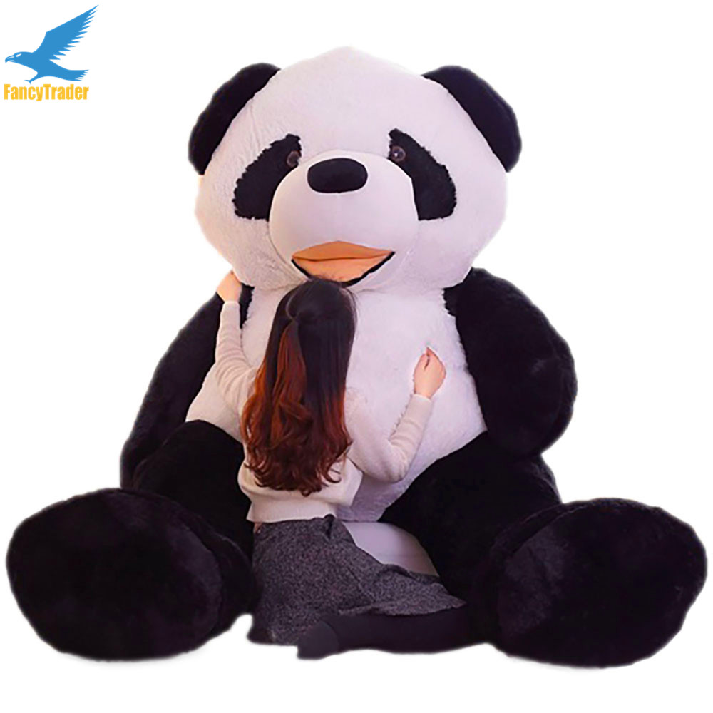 Fancytrader 102'' Biggest Huge JUMBO Plush Stuffed Giant Panda Toy Great Birthday Valentines Gift FT90905 huge lovely panda toy big plush panda with stripe clothes birthday gift about 90cm