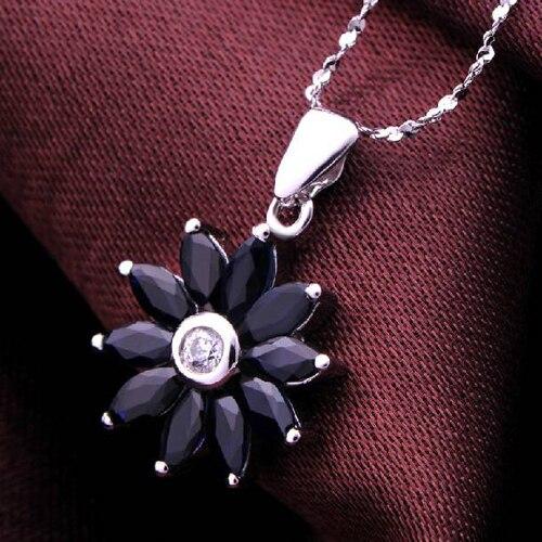Колье Qi xuan_темно-синий камень подвеска в виде подсолнуха шейный_ темно-синий шейный_ Качество прямые ed_производитель прямые продажи