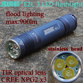 JAXMAN E2L 3LED TIR LENS flashlight 18650 flashlight torch CREE XPG2 camping cycling outdoors