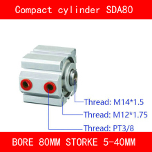 CE ISO SDA20 Cylinder Magnet SDA Series Bore 20mm Stroke 5-50mm Compact Air Cylinders Dual Action Pneumatic