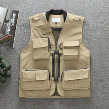 Males's Out of doors Fishing Vest Fast-Drying Mesh Vest Tactical Army Tenting Vest Waistcoats Multi Pocket Fishing Clothes Pesca