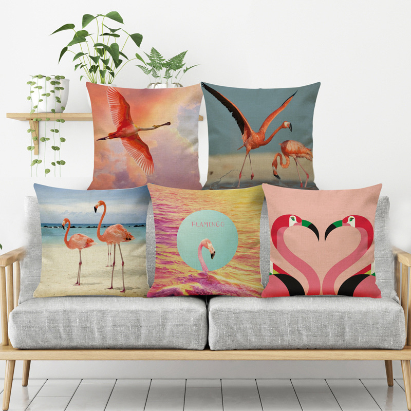 Home & Garden Home Textile Open-Minded Wedding Party Gift Flamingo Cushion Cover European Classical Fresh Household Style Decoration Sofa Pillow Case 45x45cm Be Shrewd In Money Matters
