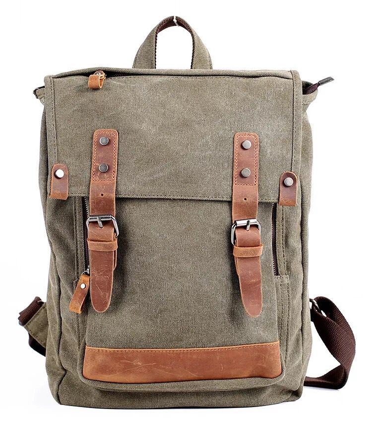 цена на Fashion Men Bag Canvas Backpack Oxford Travel Bags Retro Backpacks Teenager School Bag Mochila Escolar
