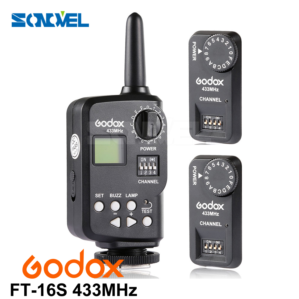 купить Godox Ft-16s Flash Trigger Remote Wireless Power Control 1x Transmitte+2x Receiver for Godox V850 V860 V850II V860II Flash по цене 3059.21 рублей