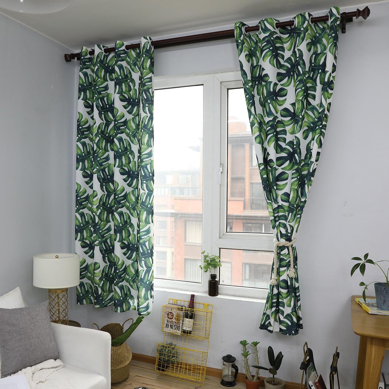 US $31.09 9% OFF Curtain Turtle Back Bamboo Scandinavian Floating Window  Ground Vegetable Curtain Living Room Curtain Green Corridor Waterproof-in  ...