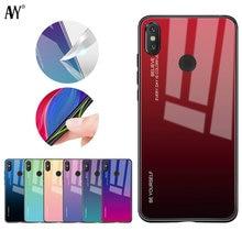 AVY For Xiaomi Mix 3 Gradient Tempered Glass Case Mi8 Mi A2 Lite A1 Redmi 6 Pro 5 Plus 6A Note 7 Pocophone F1