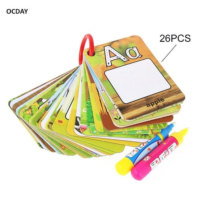 Anak 26 Surat Ocday 3d Pendidikan Awal Kognitif Kartu Puzzle Lukisan