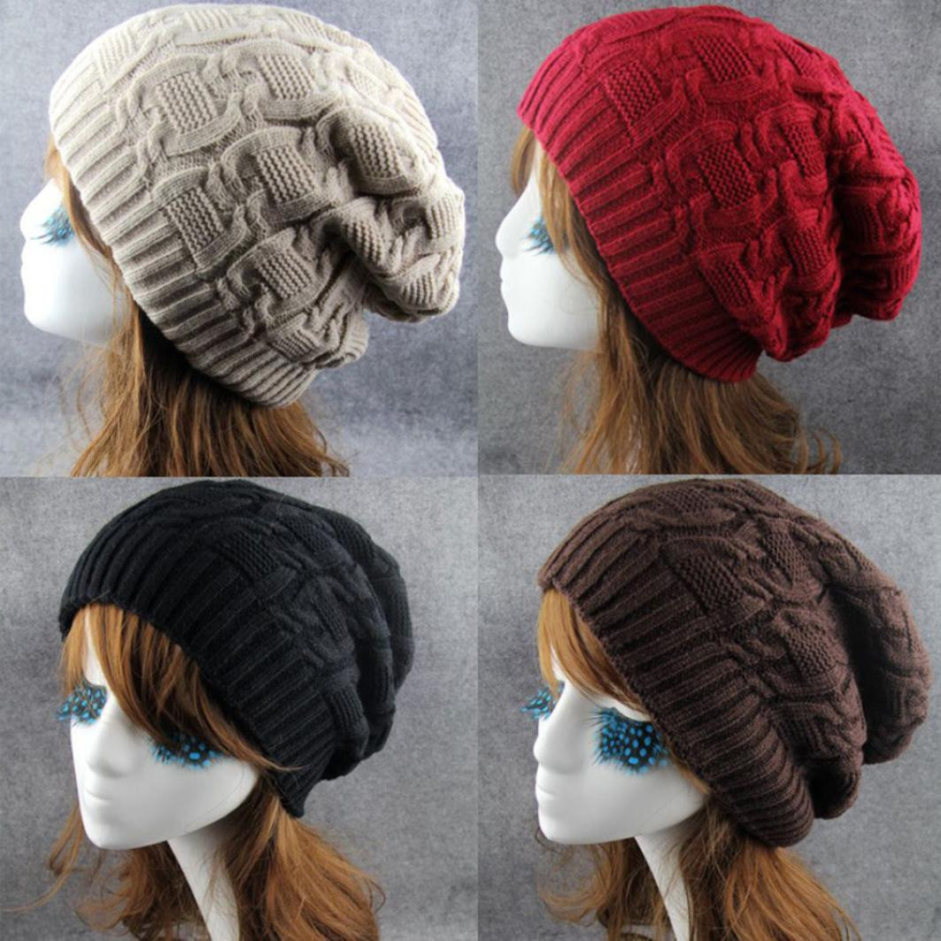 Hawcoar Fashion Men Women Outdoor Lingge Acrylic Hip Hop Wool Knitted Caps Trend Cap Hip Hop Cap Casquette кепка Z5
