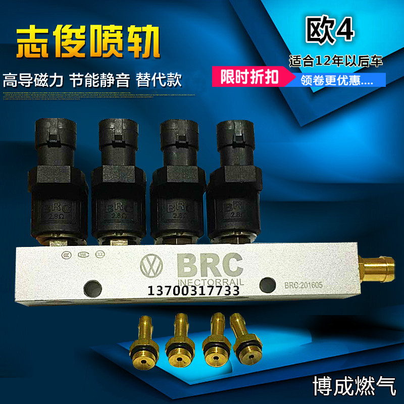 LPG CNG kits for Taxi BRC replacement Injector rail air nozzle 3/4Ohms CNG car natural gas modified Injector rail