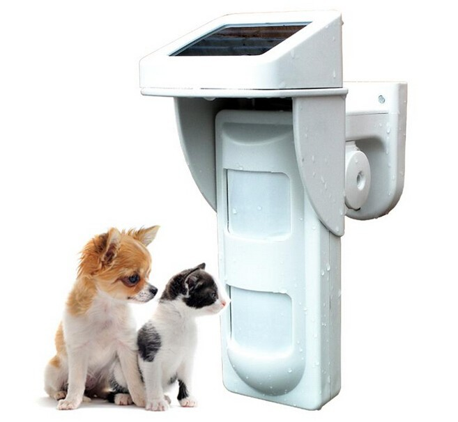 ФОТО Wireless Outdoor Solar PIR Waterproof Pet Friendly Passive Infrared Detector IR Intruder Motion Detection Home Burglar Alarm