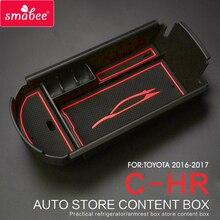 Automobiles suit For TOYOTA C HR 2016 2017 Car Central Armrest Box storage box font b