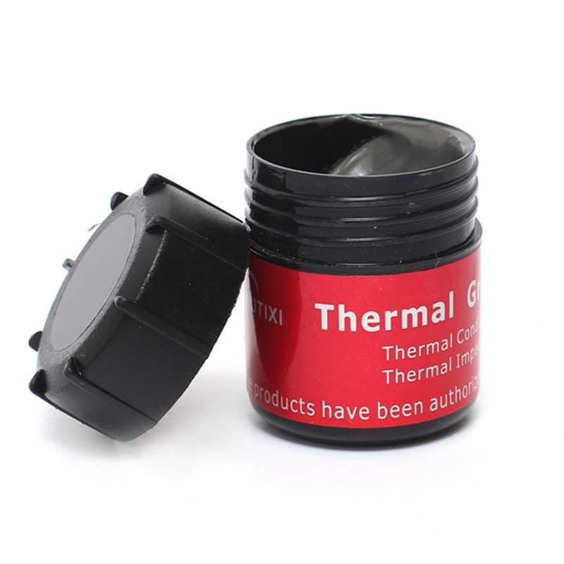 Hohe Leitfähigkeit Thermische Kühlkörper Fett Paste Zinn 20g Wärmeableitung Silikon Flüssigkeit In Groß Kühlung Kühler für Computer CPU