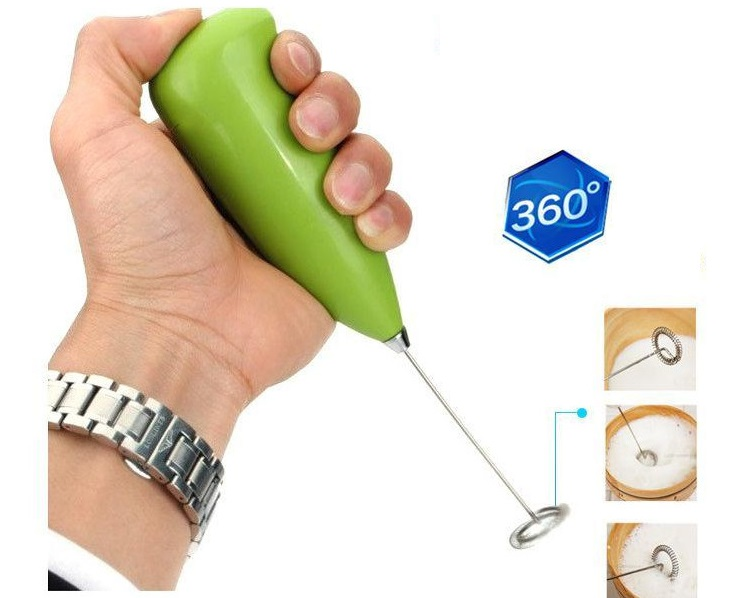 Stainless Steel Mini Handheld Electric Egg Mixer Cream Coffee Cake Household Blender Eggs Whisk Frother